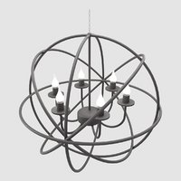 modern orbit chandelier 3D