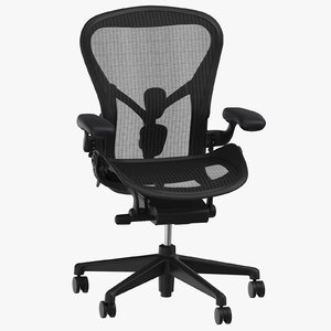 3D model herman miller aeron chair