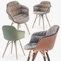 3D bontempi mood covered armchair model