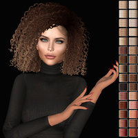 3D model hairstyle second life