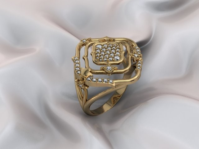 3D ring fashionable model