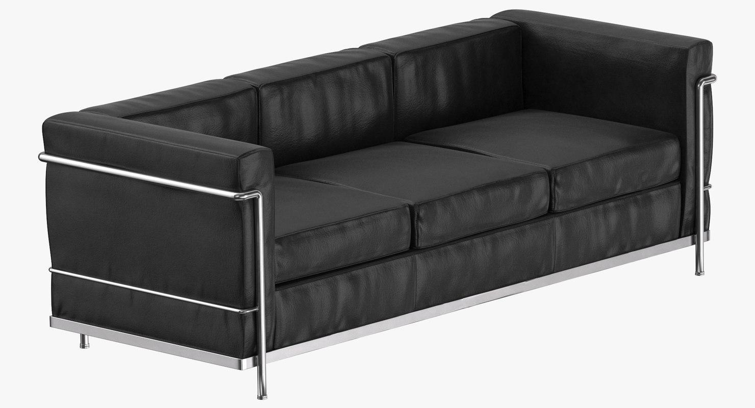 modern 3 seater sofa 3D