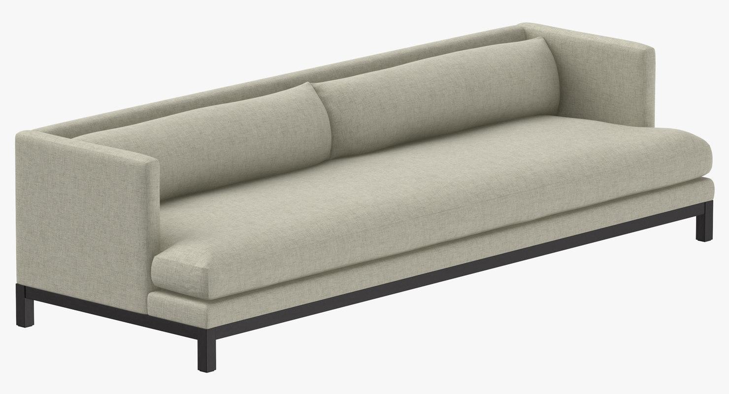 3D modern 5 seater sofa