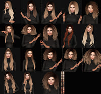 pack 18 hairstyles 3D
