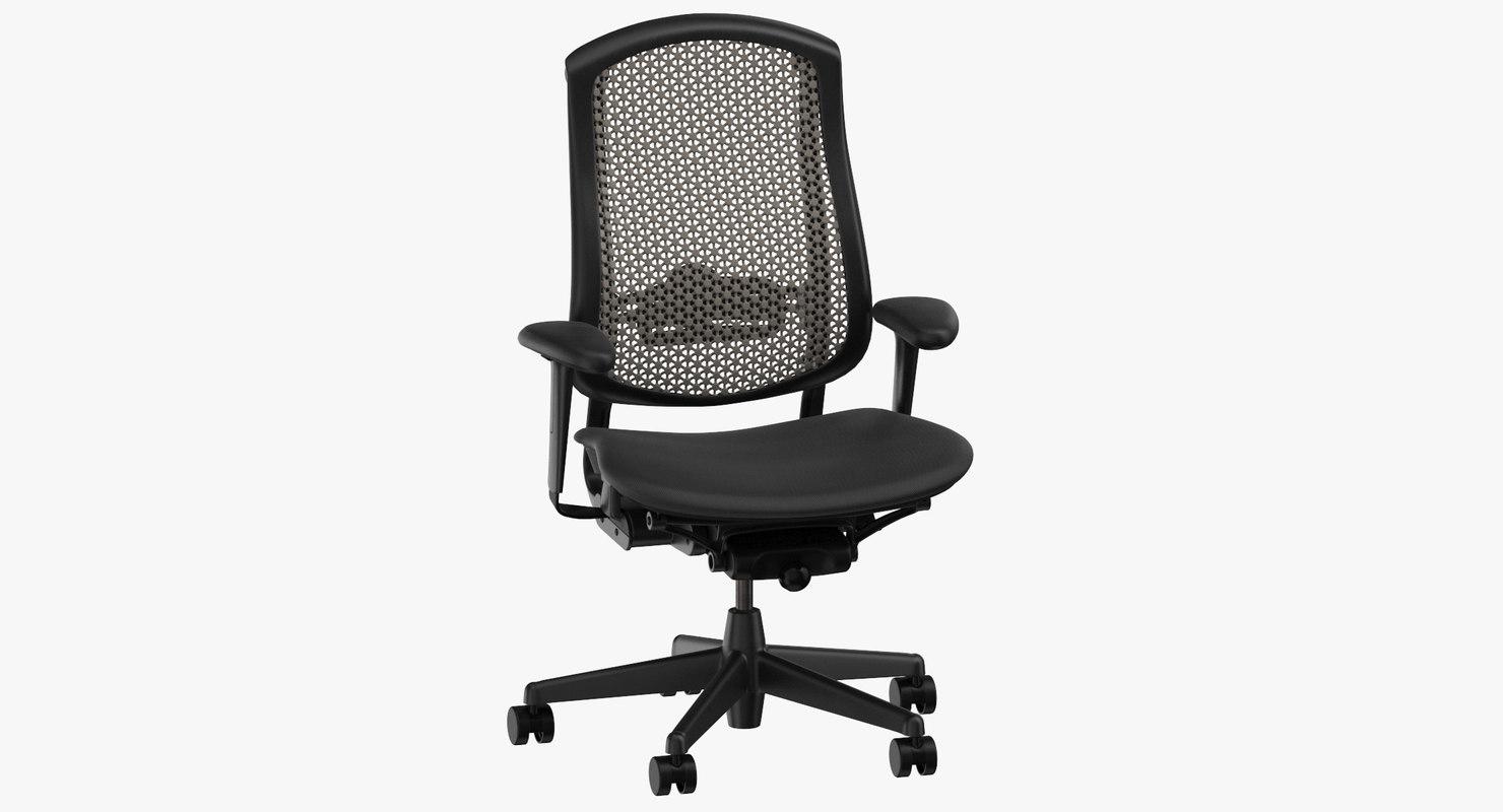 3D model herman miller celle chair