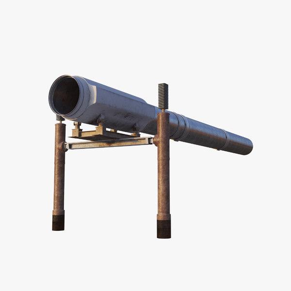 3D oil pipeline pipe model