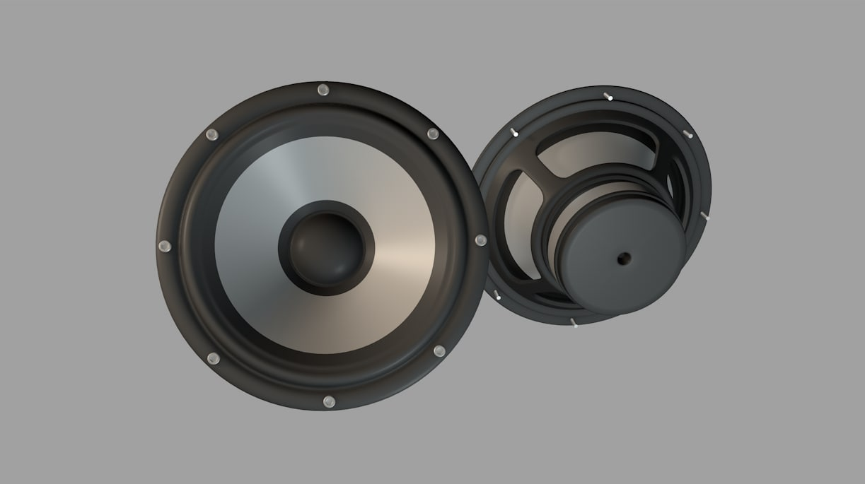 3D model bass speaker