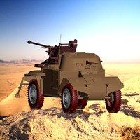 vehicle military concept car 3D model