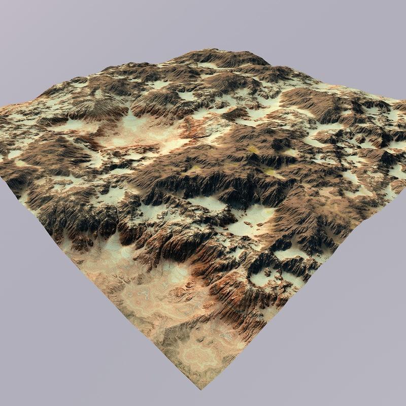 redrock desert 3D