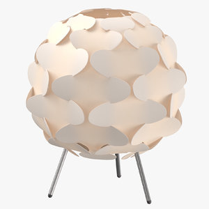 scandinavian table light - 3D model