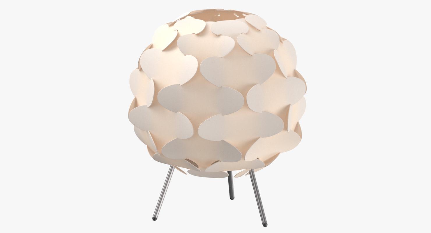 scandinavian table light - 3D model