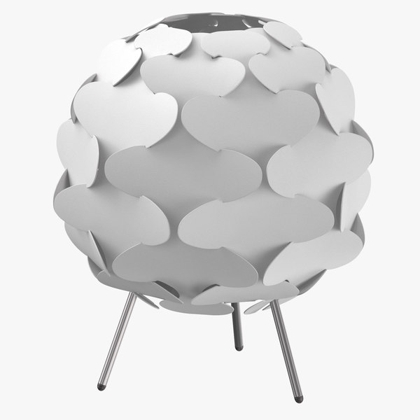 3D model scandinavian table light -