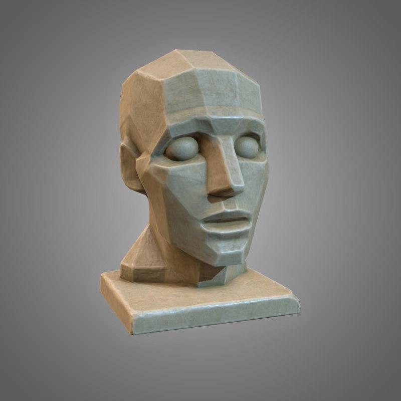 3D plane head - pbr