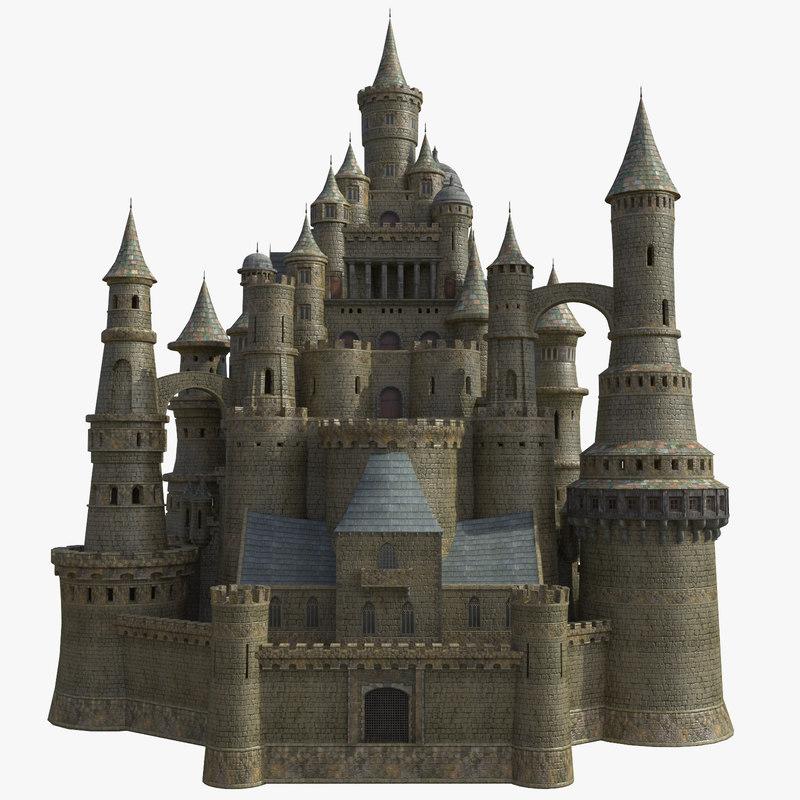 fantasy medieval castle 3D model