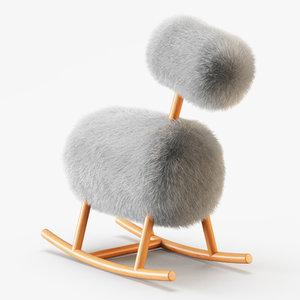 wool hiho sheepskin rocker model