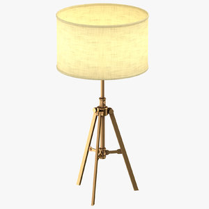transitional table light 3D model