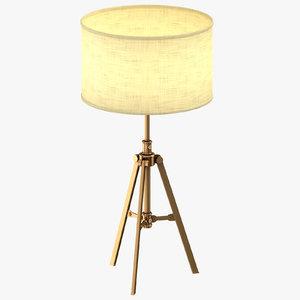 transitional table light 3D model