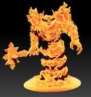 3D ragnaros figure model