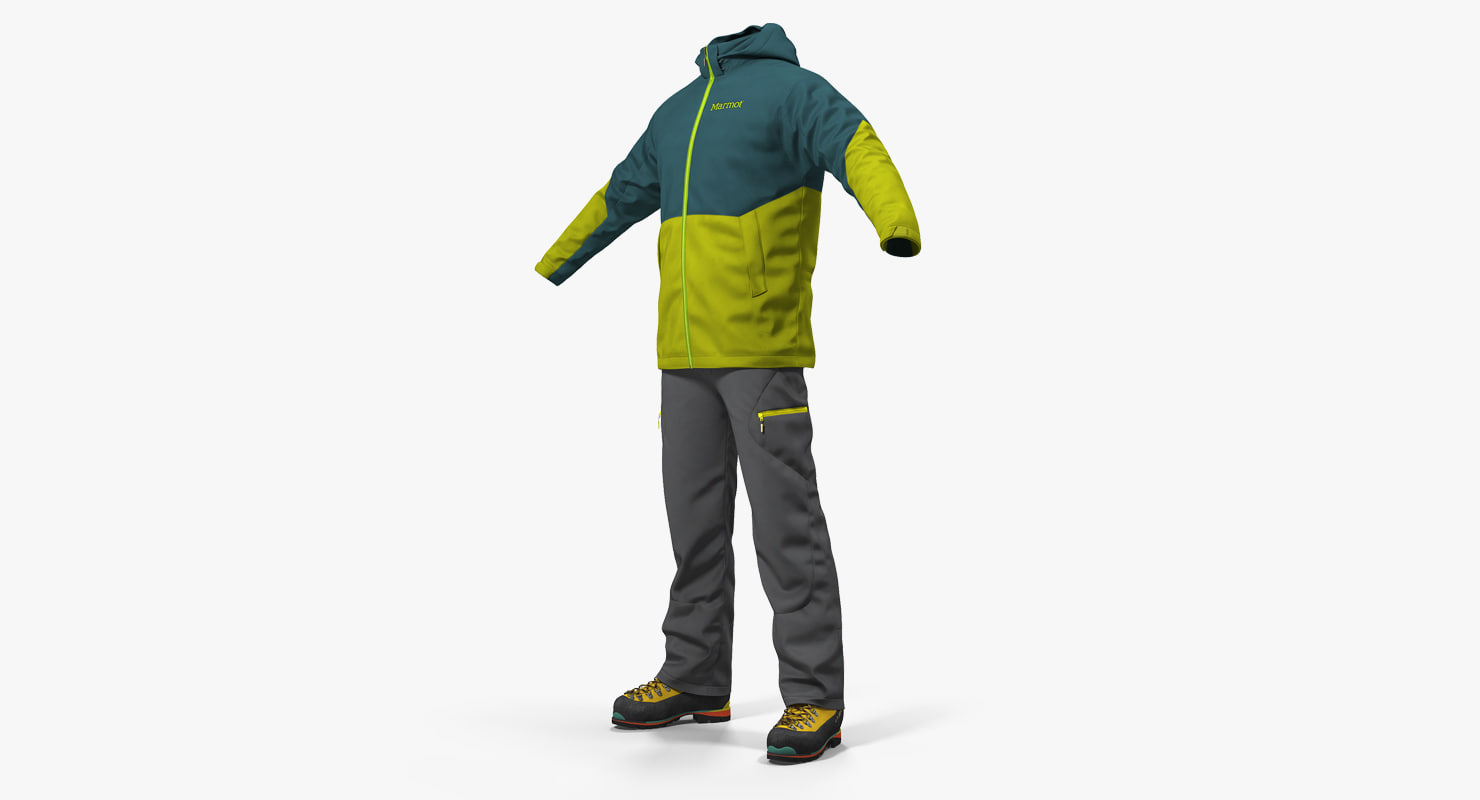 winter sportswear model