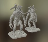 3D figure troll wow model