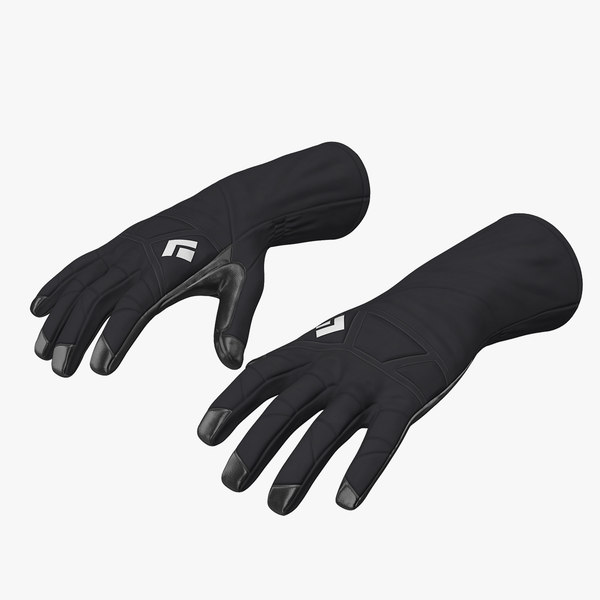 winter sport gloves 3D model
