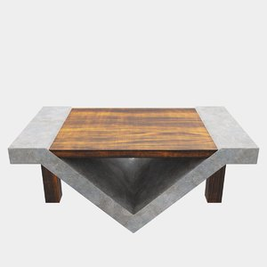 loft beton table 3D