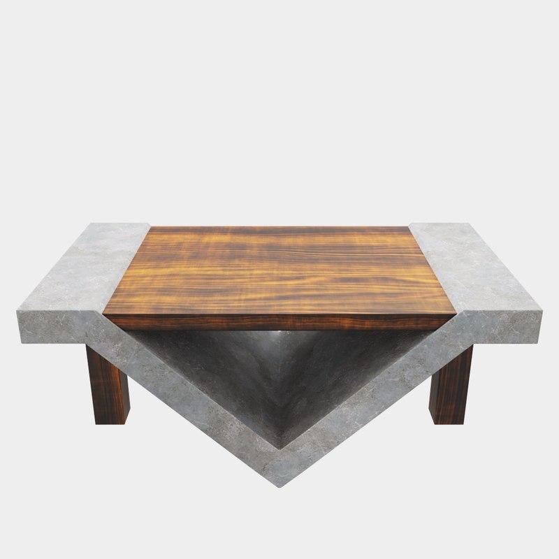 loft beton table 3D