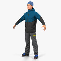 Winter Men Sportswear 3D Model