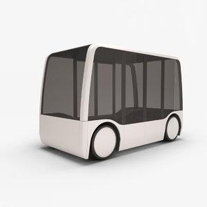 3D concept city bus