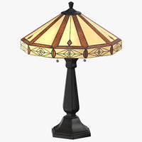 Classical Table Light On