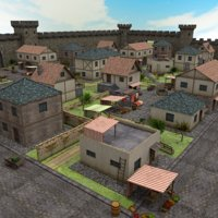 3D medieval town - pack