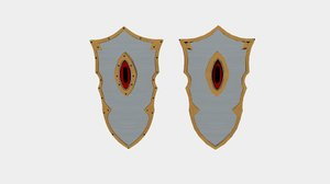 3D larp eye doom shield