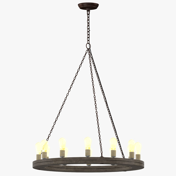contemporary ceiling light 3D model