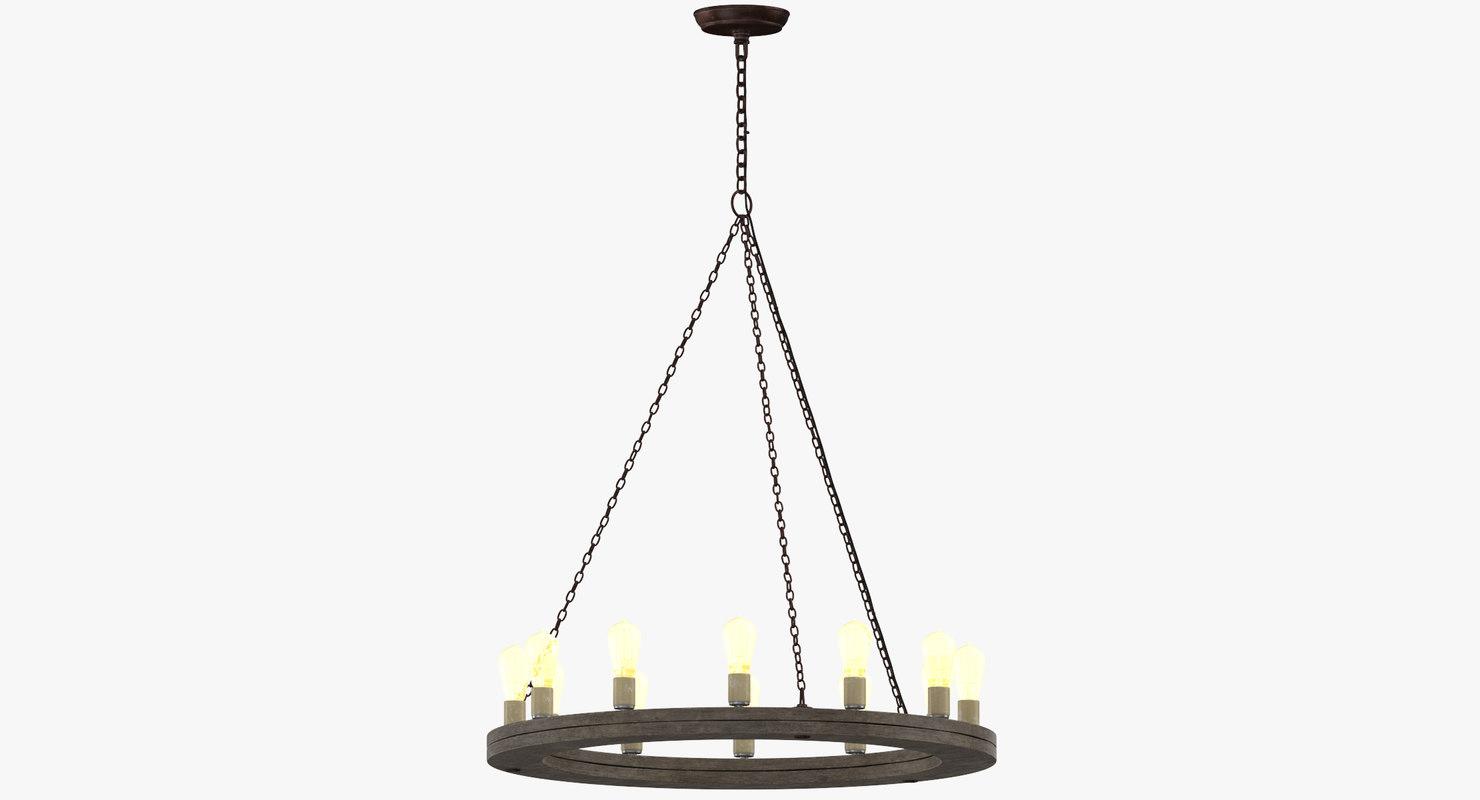 contemporary ceiling light 3D model