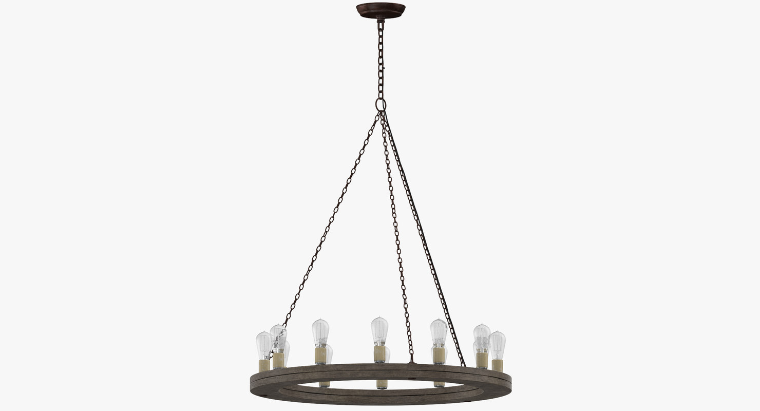 3D model contemporary ceiling light