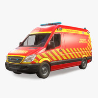 Fire and Rescue Vehicle Low Poly