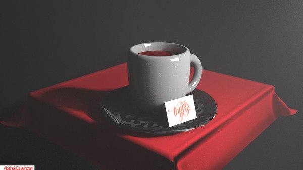 3D simple cup model