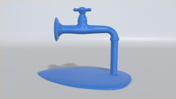 3D water tap printing model