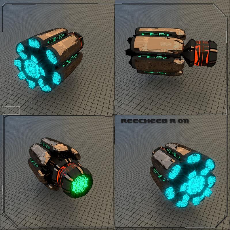 starship spaceship 3D