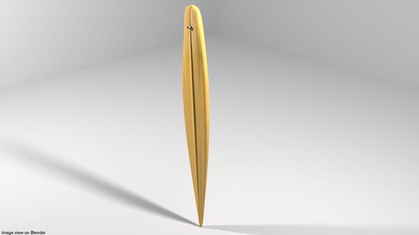 3D model board surfboard