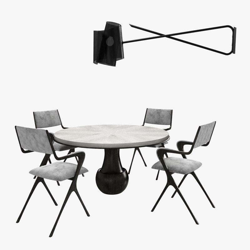 3D table lamp carole vienna model