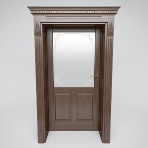 v-ray door classic 3D model