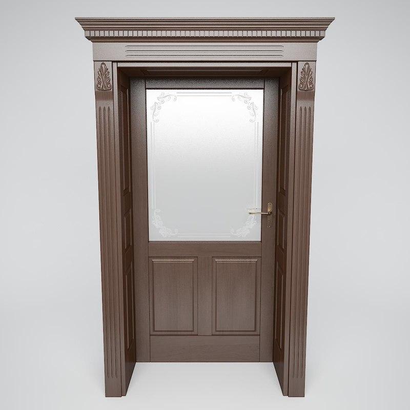 v-ray door classic 3D model