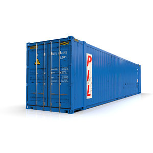 3D 45 feet pil shipping container model