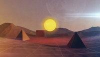 landscape desert sci-fi 3D