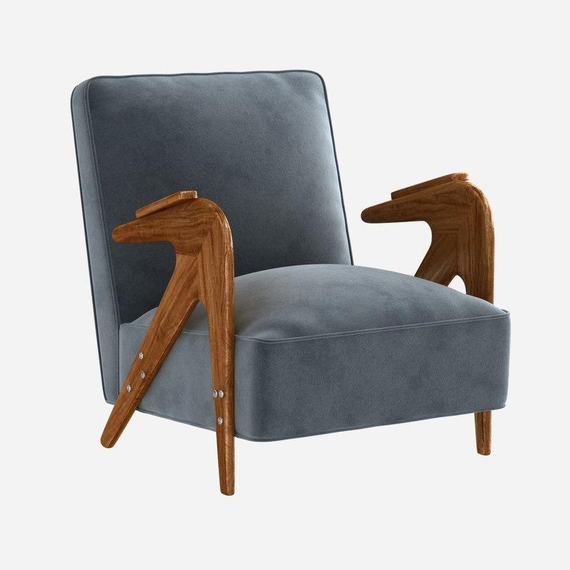 chair lounge lina bo 3D model