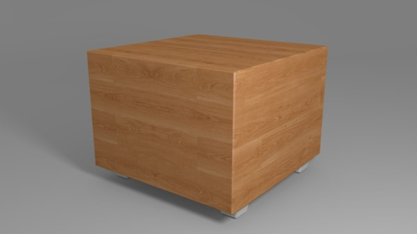 3D model wooden night table