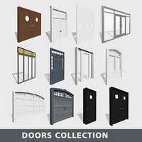 doors metal double 3D model