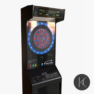arcade dart board 3D model