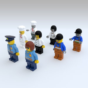 lego characters 3D